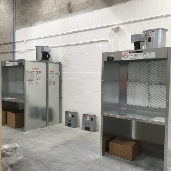 Dual Bench Spray Booth - Advanced Finishing Systems