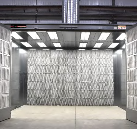 Enclosed Spray Booth with Open Doors