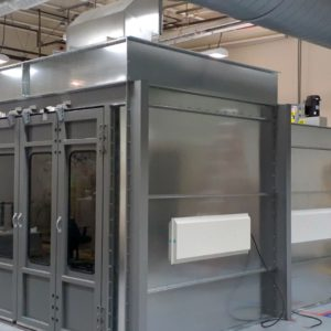 Semi Down Paint Booth
